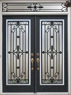 Decorative Wrought Iron Front Doors
