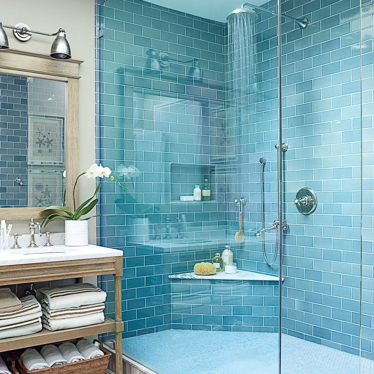 4. Soothing Blue Bath - Our Most Repinned Rooms Ever - Coastal Living
