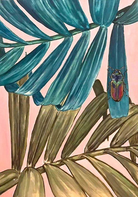 American Dream no.2 Palm leaves beetle jungle