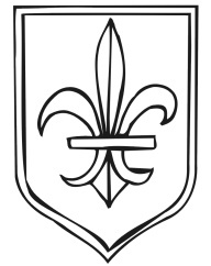 kingdom Rock vbs coloring pages | Coat of Arms coloring page with fleur-de-lis.