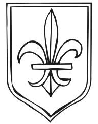 kingdom Rock vbs coloring pages | Coat of Arms coloring page with fleur-de-lis.