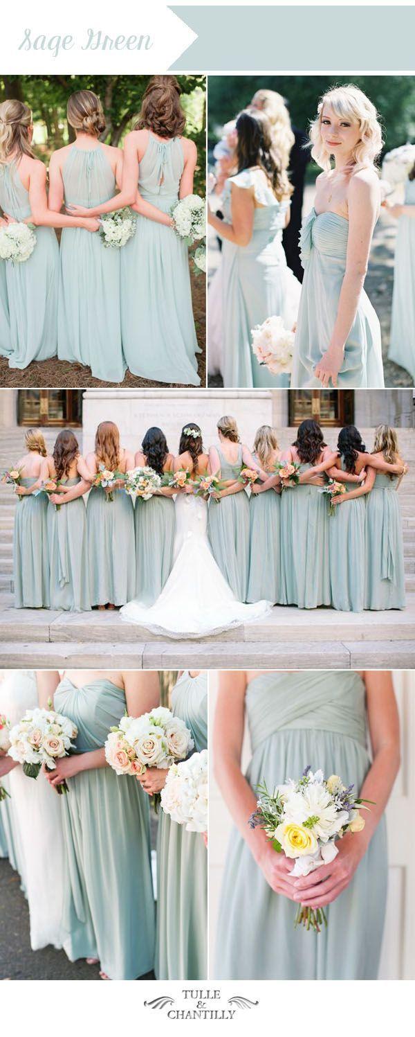 sage green summer wedding color ideas for summer bridesmaid dresses