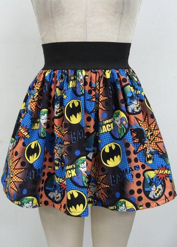 Batman vs Joker Skirt by GoChaseRabbits on Etsy, $39.99