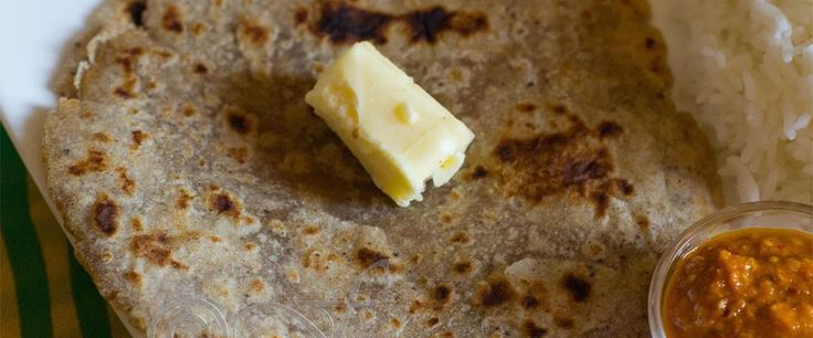 Bajra ki roti- (Millet breads) served as breads with curries