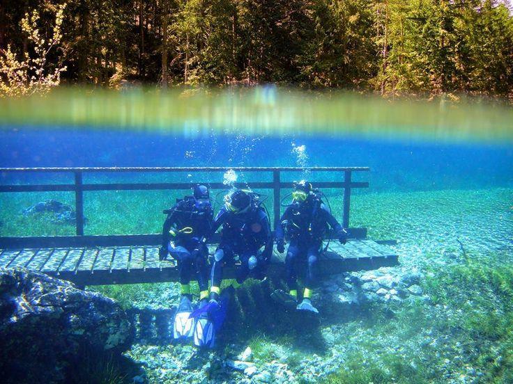 Tauchen im Grünen See