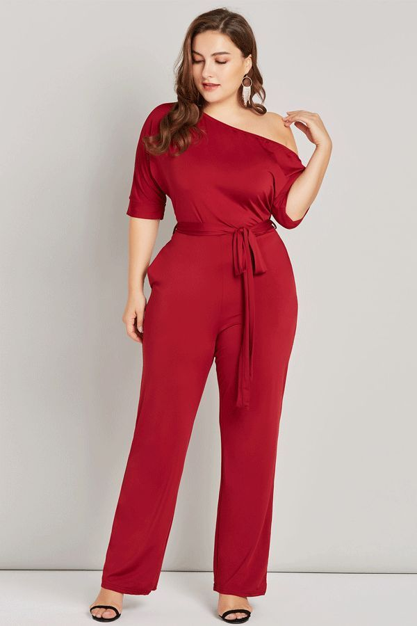 $24.99 Dresswe.com SUPPLIES Lace-Up Sexy Plain Full Length Skinny Straight Women's Jumpsuits 1