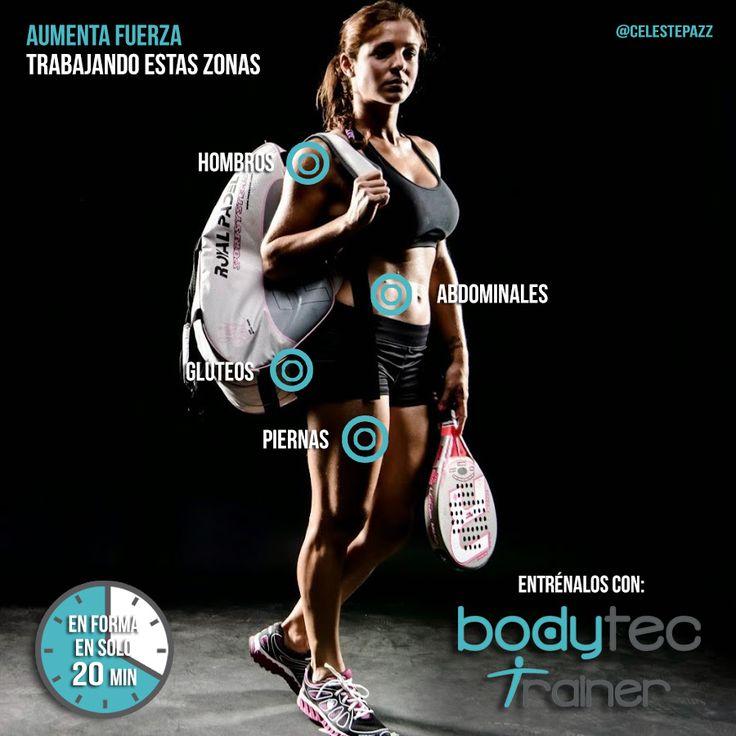 Los músculos más utilizados en la práctica del pádel, son los de nuestras extremidades (superiores e inferiores), abdominales y lumbares. Debemos tener especial cuidado con la musculatura de brazos, espalda y abdomen ya que es en esas zonas donde más se nota que el #pádel es un deporte en el cual se desarrolla más la musculatura de una mitad del cuerpo que la otra. El entrenamiento Bodytec Trainer produce una mejora en la velocidad, la fuerza, la resistencia, la coordinación y el equilibrio