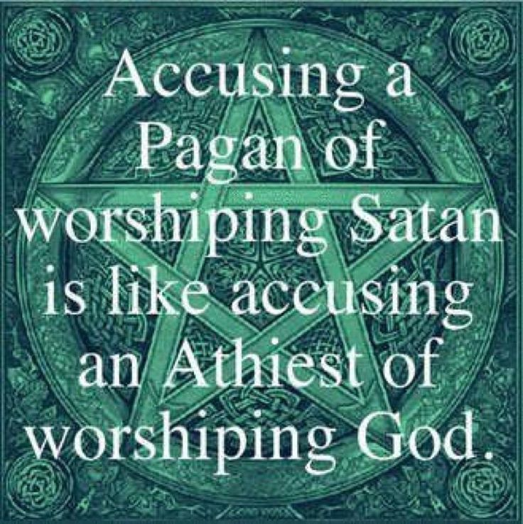 it is a little known fact that pagans and wiccans do not believe in the devil or hell