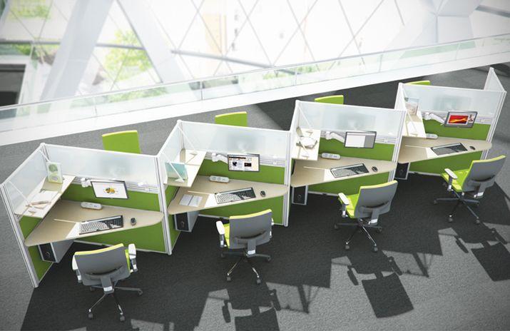 Zig-zag desks
