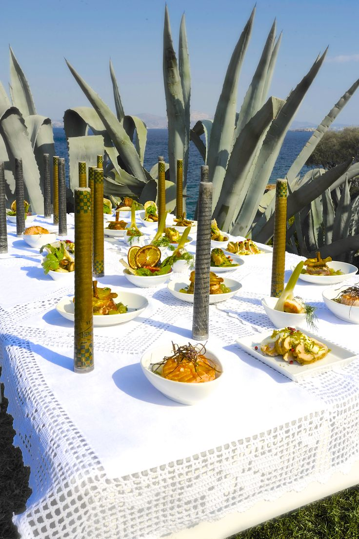 wedding food set up and decoration by #ARIAFineCatering