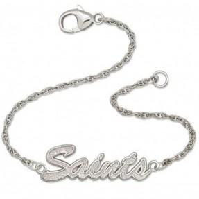 Saints Silver Script Bracelet #Saints #NOLA #Bracelet #Jewelry: Geaux Saints, Script Bracelet, Saints 3, Nola Bracelet, Bracelet Saints, Bracelet Jewelry I, Orleans Saints Who, Matching Bracelet