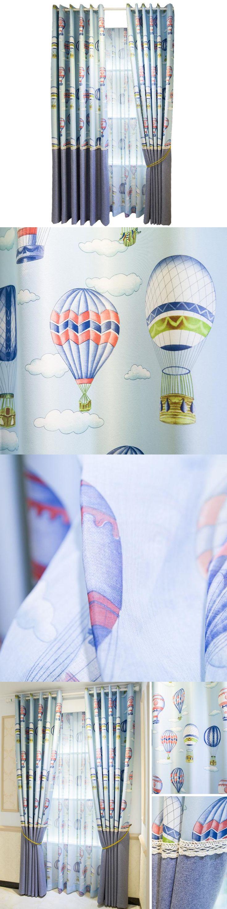 Blackout Curtains Free Shipping!Blue Balloon Mediterranean Style Children's Room Curtain.