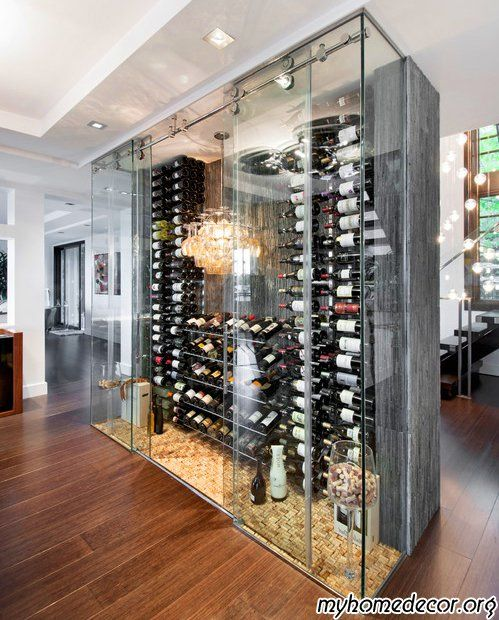 Modern Wine Cellar Design. IN MY HOME RIGHT MEOW! Holy Bananas!