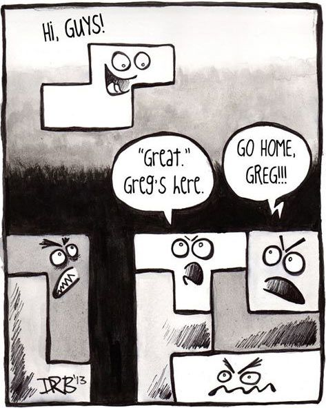 The worst moment while playing Tetris…
