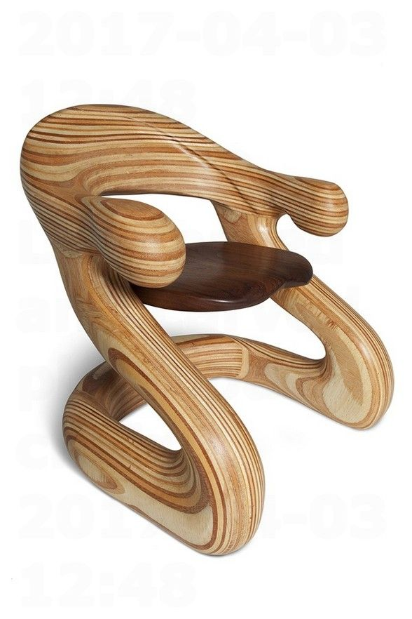 Laminated and carved plywoods chair