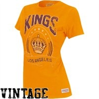Vintage! Mitchell & Ness Los Angeles Kings Ladies Vintage Tailgate Crew T-Shirt