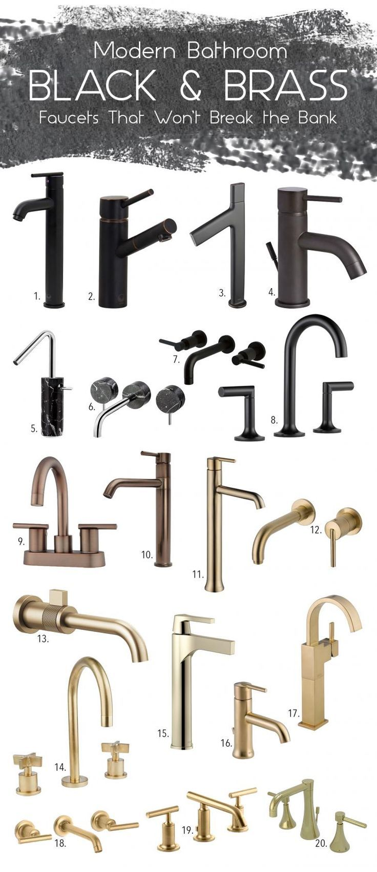115 best kitchen faucets images on pinterest kitchen faucets black brass kitchen faucet mood board via simply grove