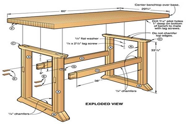 Build a workbench easy way to decorate your outdoor space for Easy to build house plans