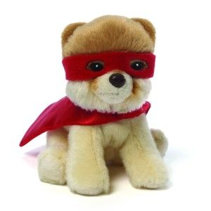 Itty Bitty Boo Superhero Stuffed Toy Superhero Boo is ready to fight crime, Boo style. It is surface washable. It has Boo written on the cape. An accurate superhero costume sure to please comic book enthusiasts. http://awsomegadgetsandtoysforgirlsandboys.com/gund-superhero/ Gund Superhero: Itty Bitty Boo Superhero Stuffed Toy