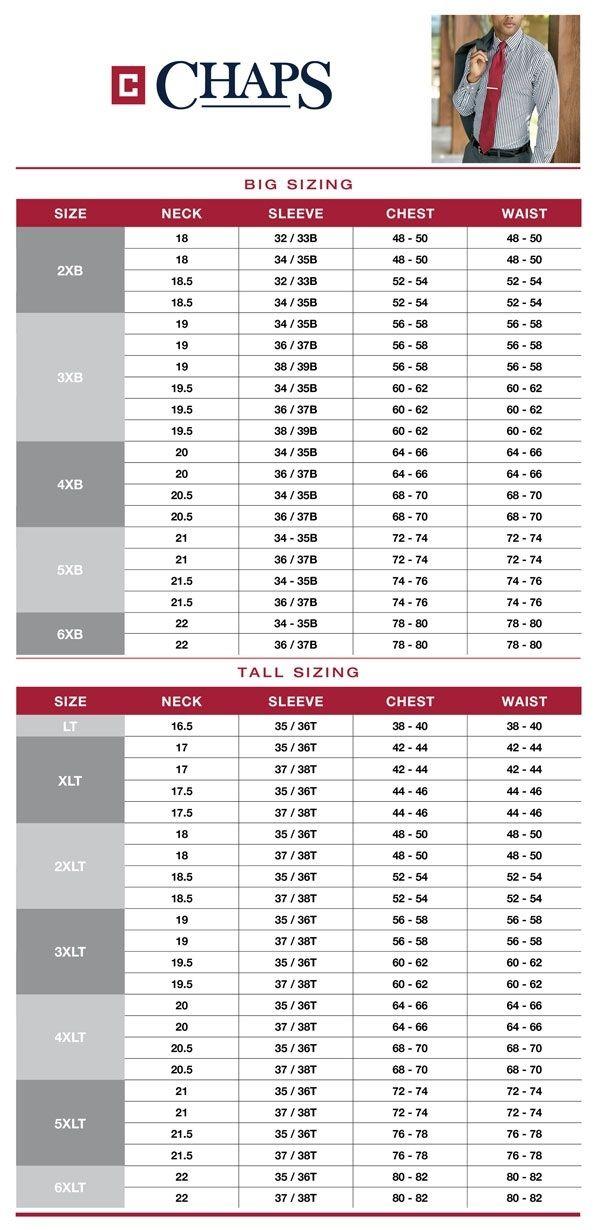 van shoe size chart