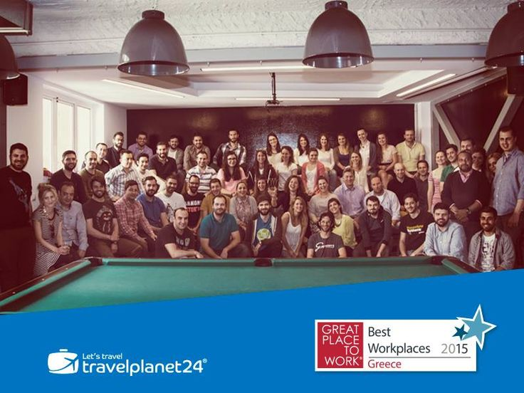 We are very happy to be on the Top 10 of the Best Workplaces for 2015 in Greece! The list of companies with the Best Workplace Environment in Greece for 2015 was compiled by the Great Place to Work® Hellas with academic cooperation of ALBA Graduate Business School. A BIG thank you to all of our employees! #Travelplanet24 #Tripsta