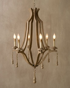 Wooden Chandelier From Horchow More