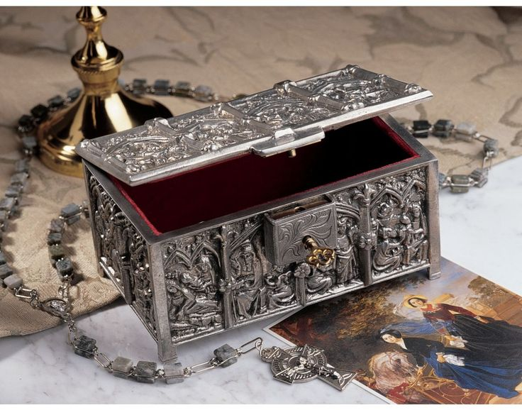 Gothic Revival Solid Pewter Cathedral Jewelry Amp Trinket