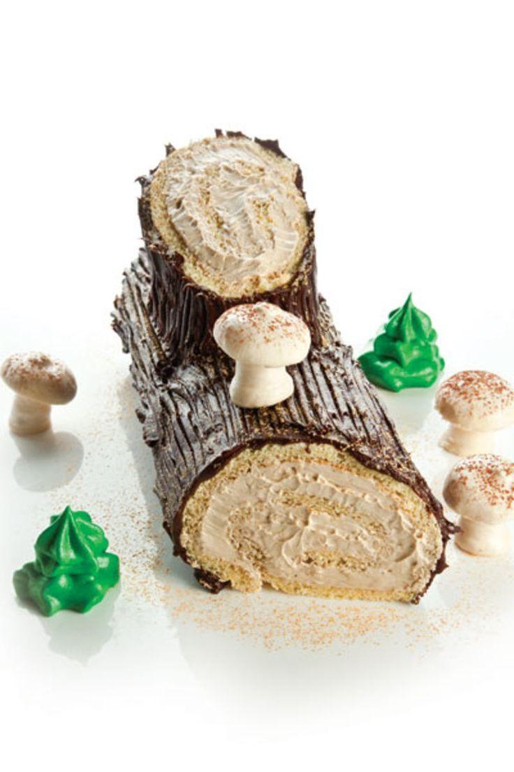Bûche de Noël (Yule Log Cake with Coffee Buttercream and Ganache) Recipe   SAVEUR