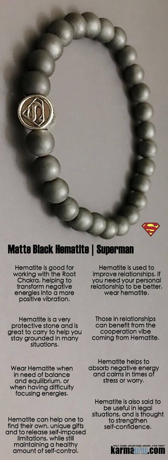 Hematite is used to improve #relationships. If you need your personal relationship to be better, wear #hematite. ♛ #BEADED #Yoga #BRACELETS #Mens #Good #Luck #womens #Jewelry #Fertility #Eckhart #Tolle #CrystalsEnergy #gifts #Chakra #Healing #Kundalini #L