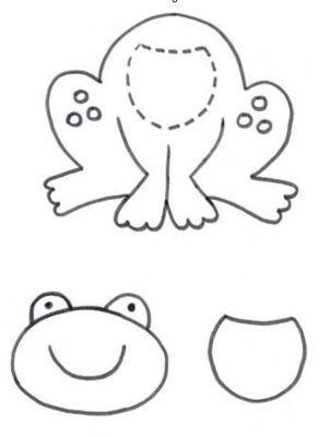 Pattern for cute frog Wal Artesanal o site do feltro