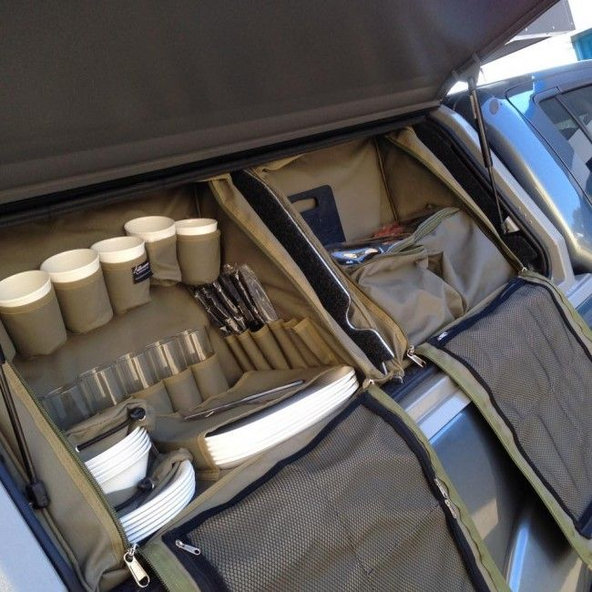 Camping Canopy Complete Cutlery Bag | Ute Camp kitchen setup