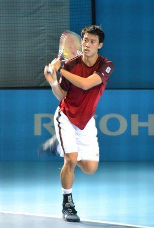 9日に開幕する今季最終戦、ATPツアー・ファイナルへ向け、最終調整する錦織圭=8日、ロンドン ▼9Nov2014時事通信|錦織、ファイナルへ最終調整=9日にマリーと初戦-男子テニス http://www.jiji.com/jc/zc?k=201411/2014110900001 #Kei_Nishikori