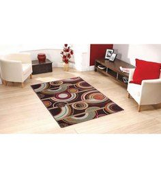 Status Multi Colored Circle Print Taba Rug