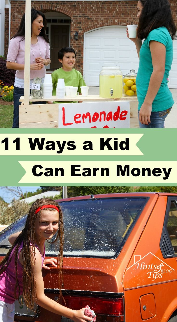 11 Ways a Kid Can Earn Money   If you don't let them earn some how can you teach them how to handle it?
