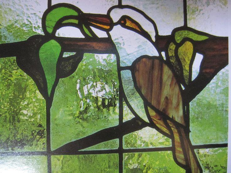 Australian birds are featured in leadlight windows.