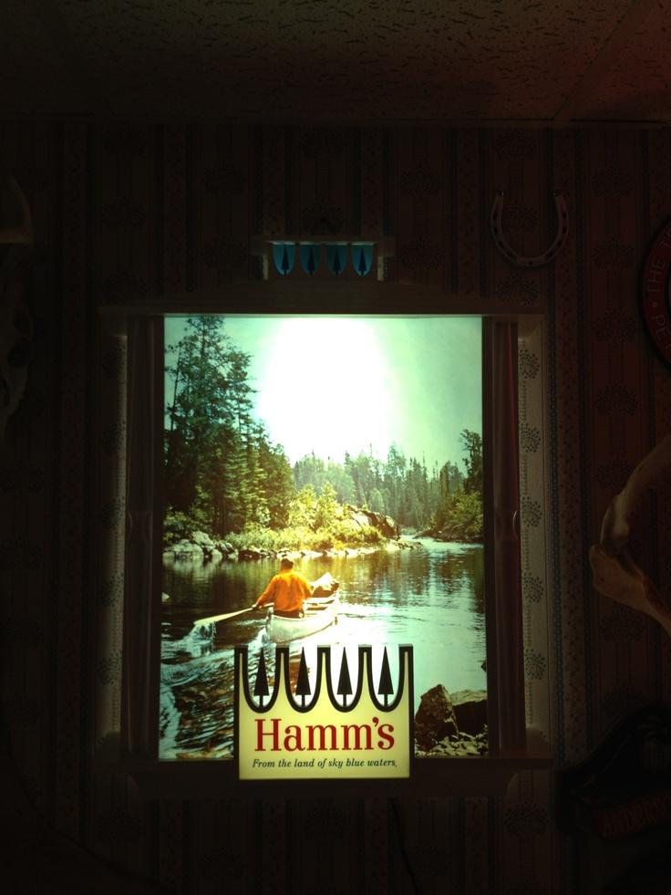 Retro Hamms Beer sign