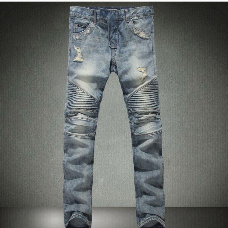 Trouver plus Jeans Informations sur nouveau 2014 patchwork designer célèbre marque skinny jeans déchirés jeans hommes slim fit baggy jeans homme 40 mens jeans pantalons sport, de haute qualité jeans pantalons pour hommes, jeans sans marque Chine Fournisseurs, pas cher jeans argent de man's dream sur Aliexpress.com