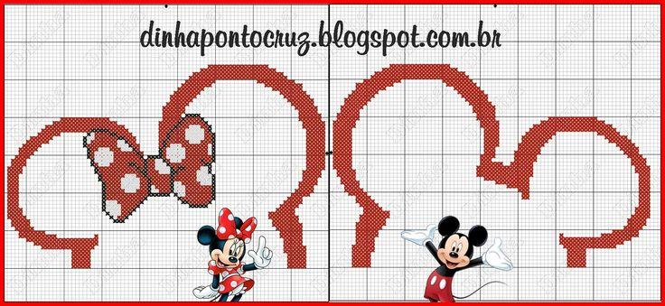 Bom dia bordadeiras no plantão!  Atendendo a pedidos hoje trago novas orelhinhas do Mickey e Minnie, desta vez não é necessariamente bordar ...