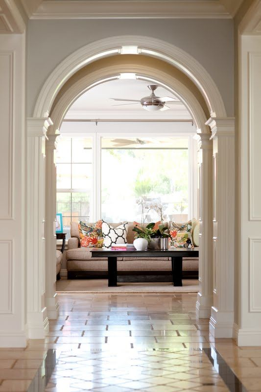 88 best crown molding for my palace images on pinterest - Archway designs for interior walls ...