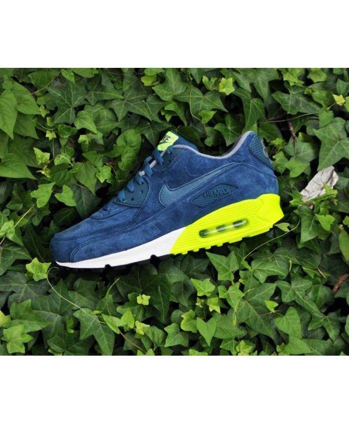 Nike Air Max 90 Premium Blue Volt Mens Trainers