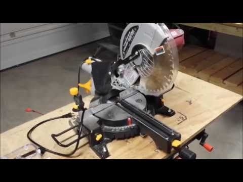 harbor freight miter saw. how to get the most out of your harbor freight miter saw - youtube t
