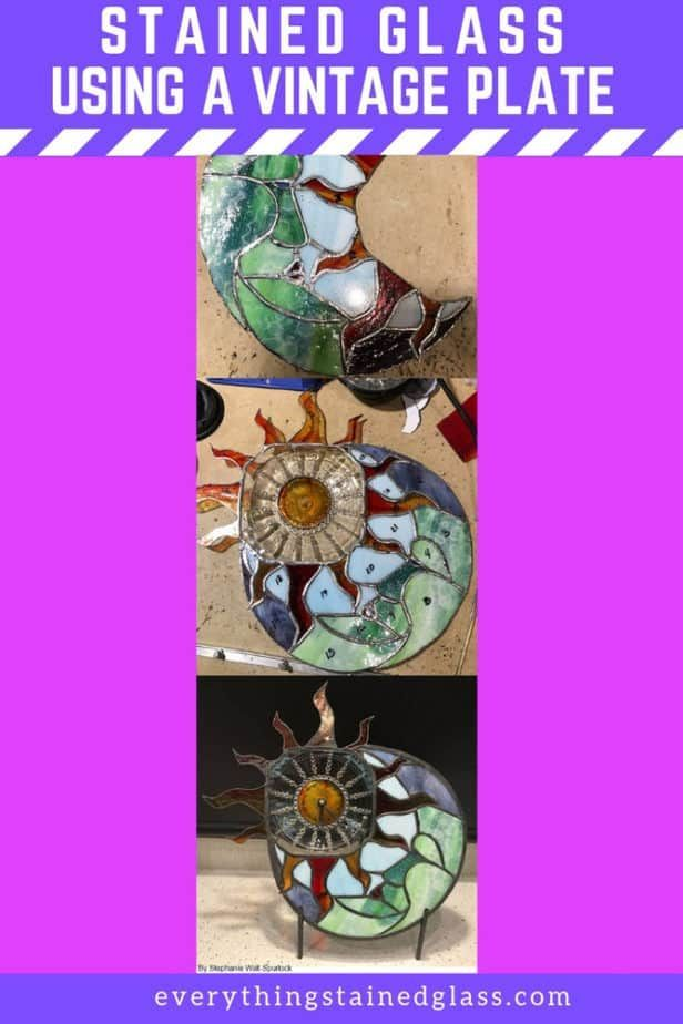Using A Vintage Plate In Stained Glass