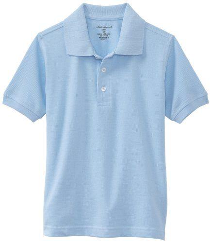 Eddie Bauer Little Boys' Uniform Short Sleeve Pique Polo Shirt Light Blue 5/6