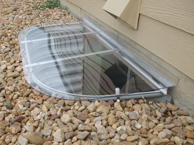 egress window coverings...  let the light into your basement!