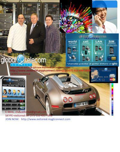 GLOBAL TELECOM CONNECT-USA http://www.exitoreal.mygtcom GANE DOLARES - CustomersPlus4u.com - CustomersPlus4u.com cel 57-313-499-6269 SKYPE=EXITOREAL E-MAIL. exitoreal@gmail.com