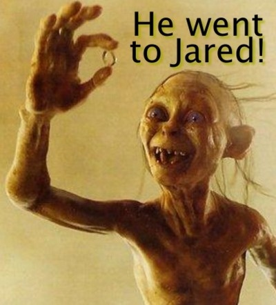 Frodo went to Jared!