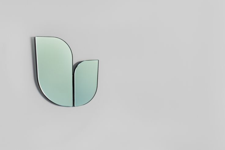 Perho green mirror by Katriina Nuutinen, 2016.