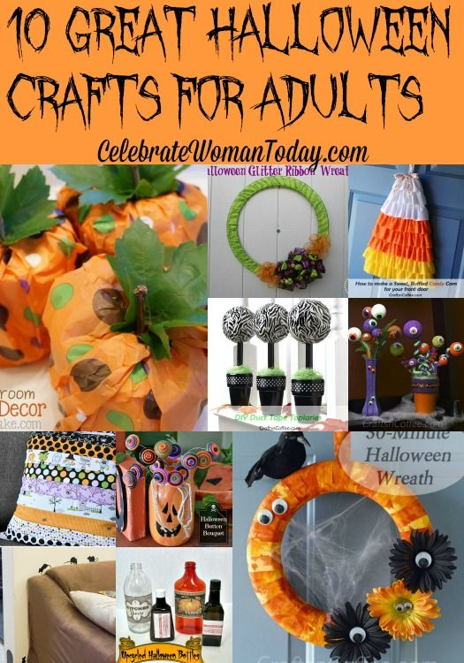 10 Great Halloween Crafts For Adults via @DiscoverSelf