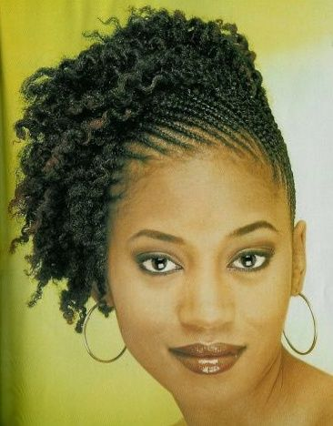 Natural Cornrow Hairstyles Black Women | Love this side up-do! | Black Women Natural Hairstyles