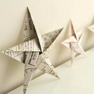 Etoiles+origami+à+poser